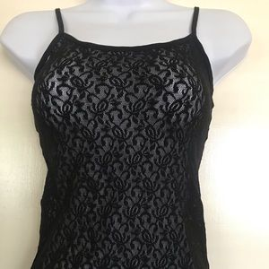 ST. EVE intimates ,black lace camisole size M